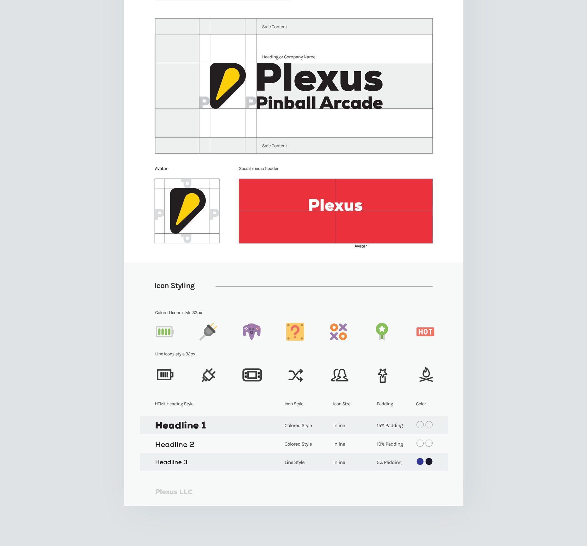 Plexus Arcade Styleguide example presentation