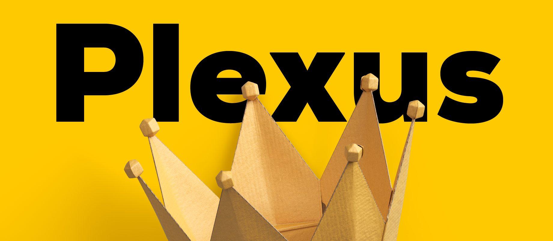 Plexus header graphic bold crown black