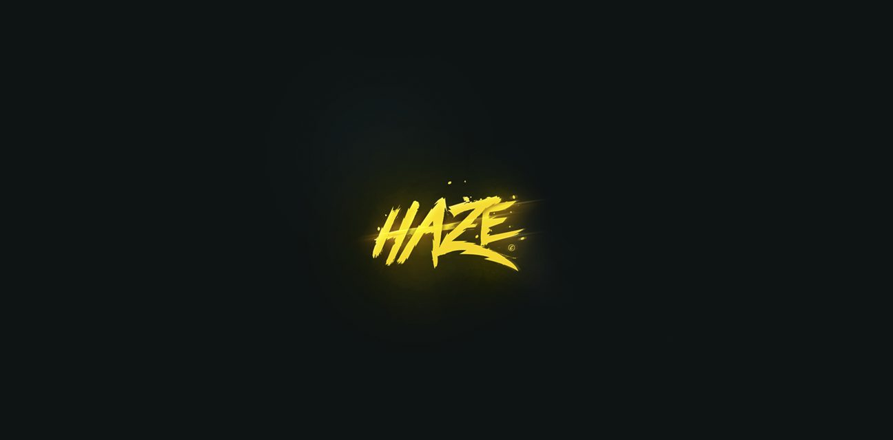 haze logo lightning text powerful motion logocore