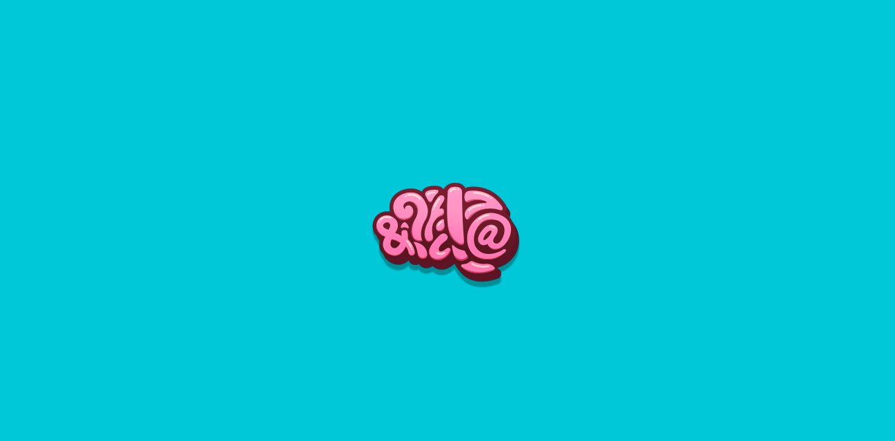 brain mindchop logo pink blue wordmark symbol