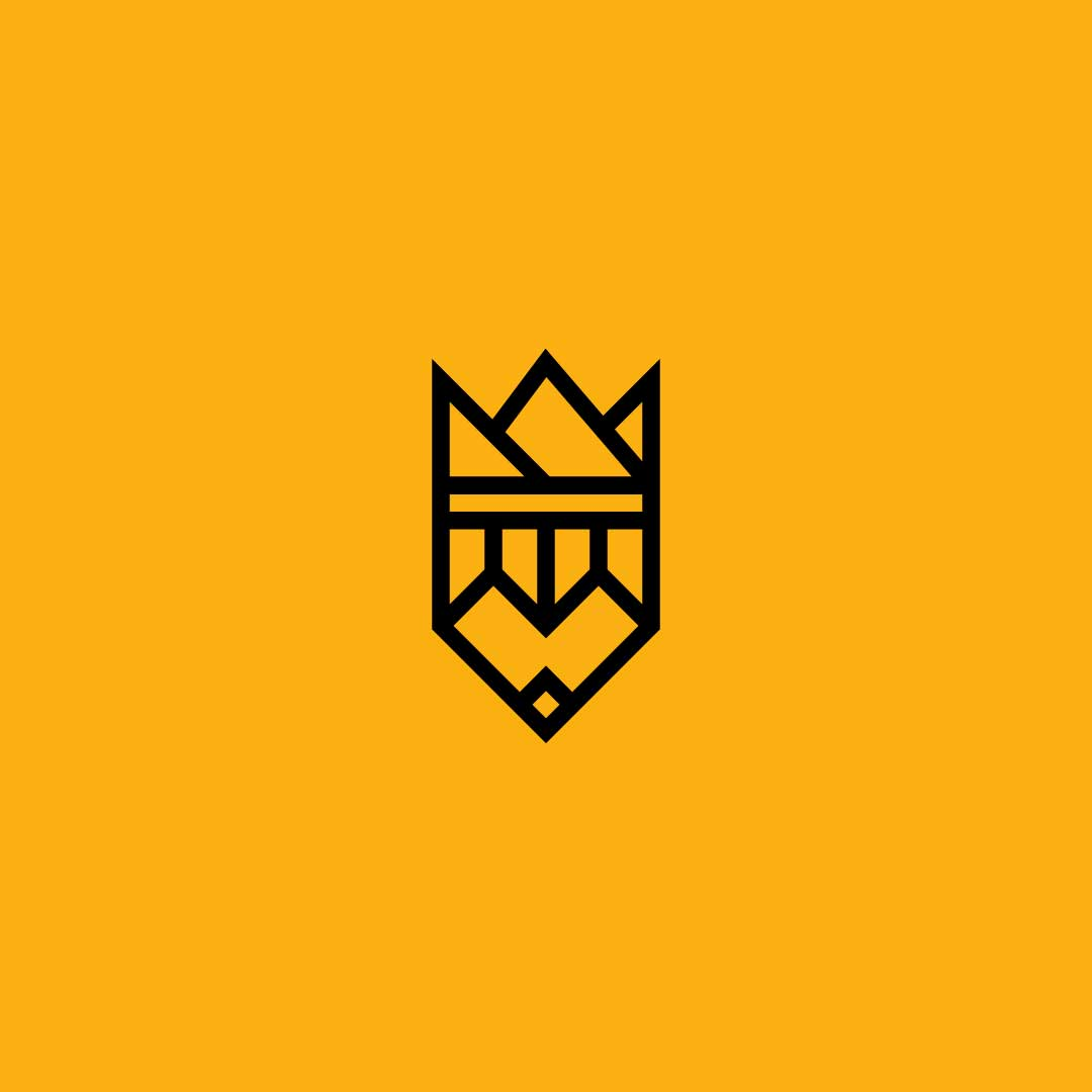 Pencil-Crown-Premade-LogoCore-Logo-@YesqArts