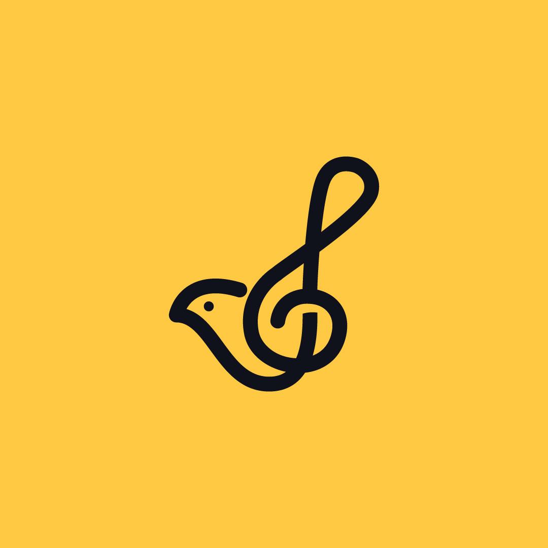 Musical-Bird-Premade-LogoCore-Logo-@farazshkh